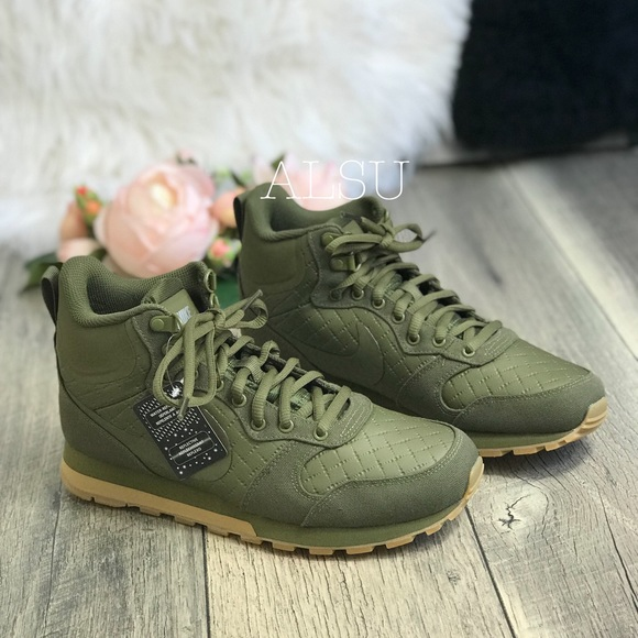 fb3c6d1e6d Nike Shoes | Md Runner 2 Mid Prem Olive Canvas W Authentic | Poshmark